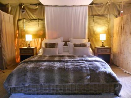 Coin chambre au glamping Bô Zen Lodge à Biarritz en Aquitaine