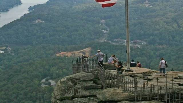 A visit to Chimney Rock is a favorite thing to do in North Carolina with tourists