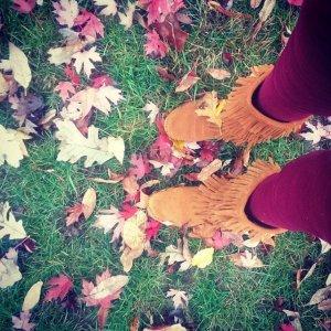 Minnetonka Calf Layer Fringe Boots