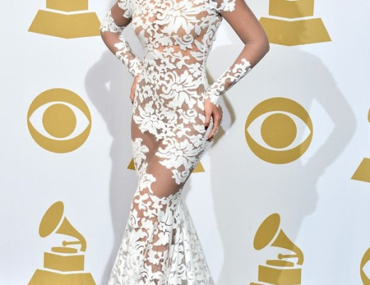 Beyonce Dress in Michael Costello 2014 Grammys