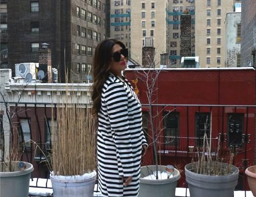 Asos Striped Coat