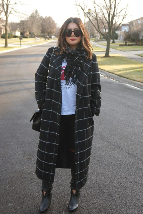 ASOS Coat in Oversized Fit in Check
