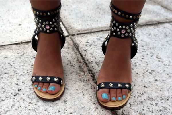 Jessica Buurman Rumi Ankle Strap Studded Sandals