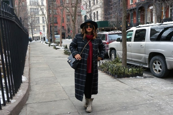 Asos Check Coat In Oversized Fit