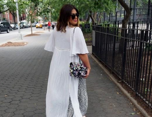 Zara Long Tunic Dress White