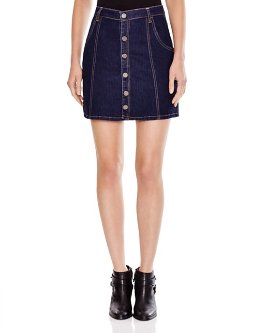 BLANKNYC Snap Front A-line Skirt
