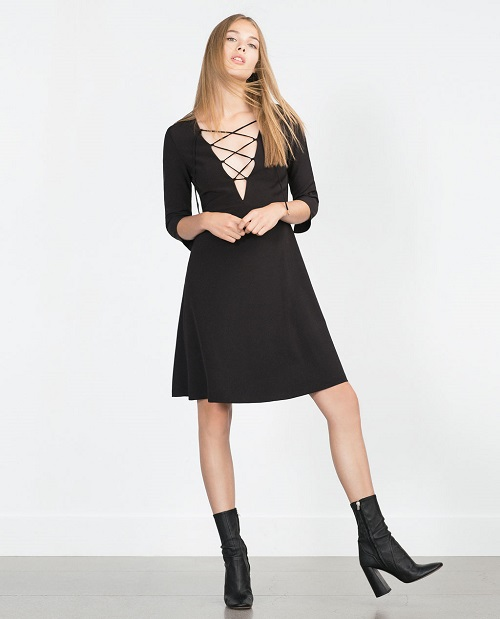 zara dress with full skirt