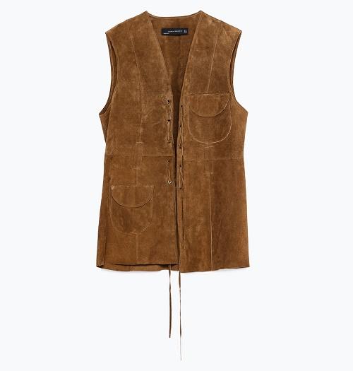 zara waistcoat with pockets