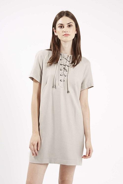 topshop lace front dress