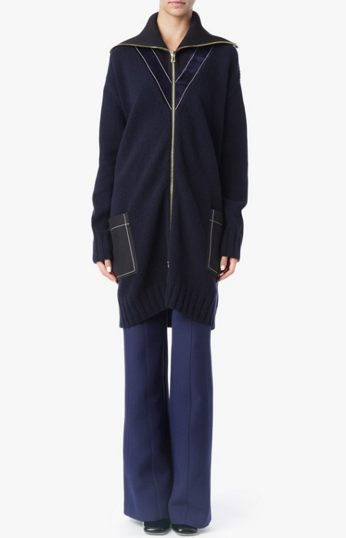 Derek Lam Zip Front Turtleneck Cardigan