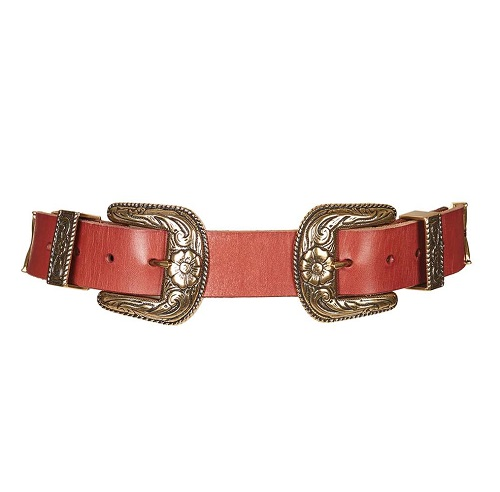 Topshop double buckle belt