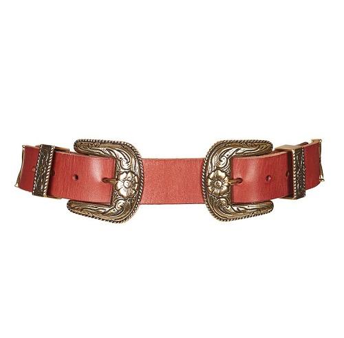 Topshop double buckle belt