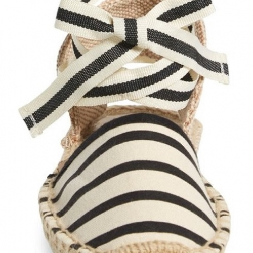 Soludos Stripe Lace-Up Espadrille Sandal