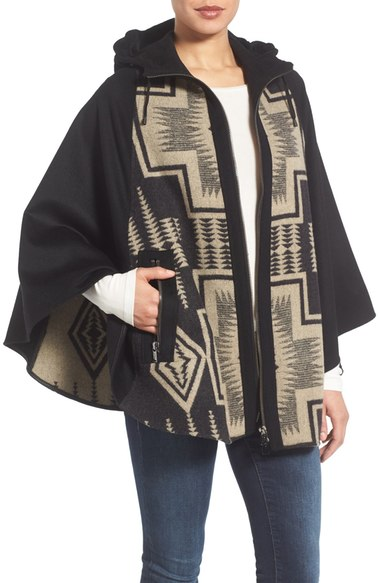 Pendleton Hooded Wool Cape