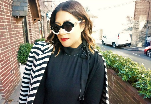 WIldfox Twiggy Black and White Sunglasses