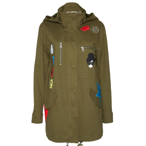 Alice + Olivia Cheryl Embroidered Hooded Parka