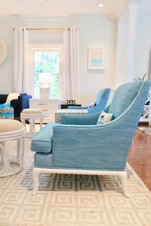 Jonathan Adler Chippendale Lounge Chairs