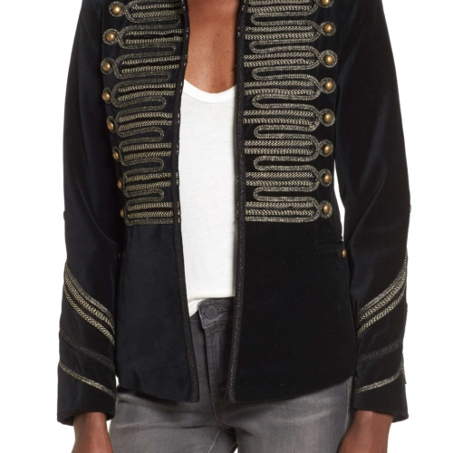 Blank NYC Velvet Band Jacket