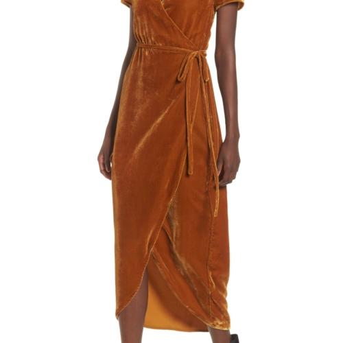 WAYF Next To You Velvet Dress