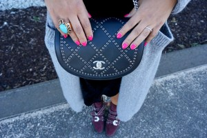 Chanel Calfskin Eyelet Flap Bag