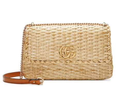 Gucci Small Straw Shoulder Bag