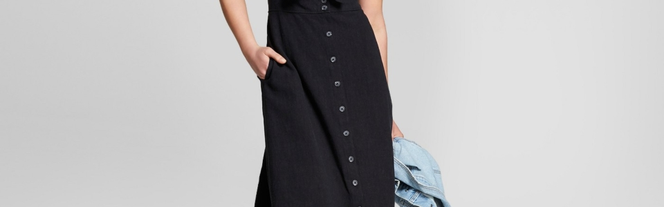 Universal Thread Tie Front Midi Dress