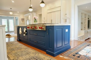 Kitchen Island Benjamin Moore Downpour Blue