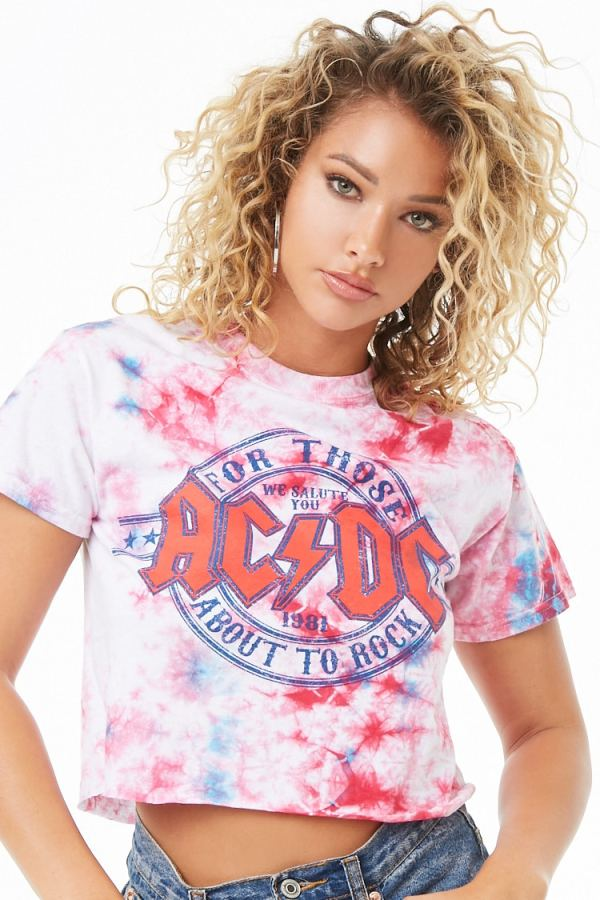 ACDC Tie-Dye Graphic Tee