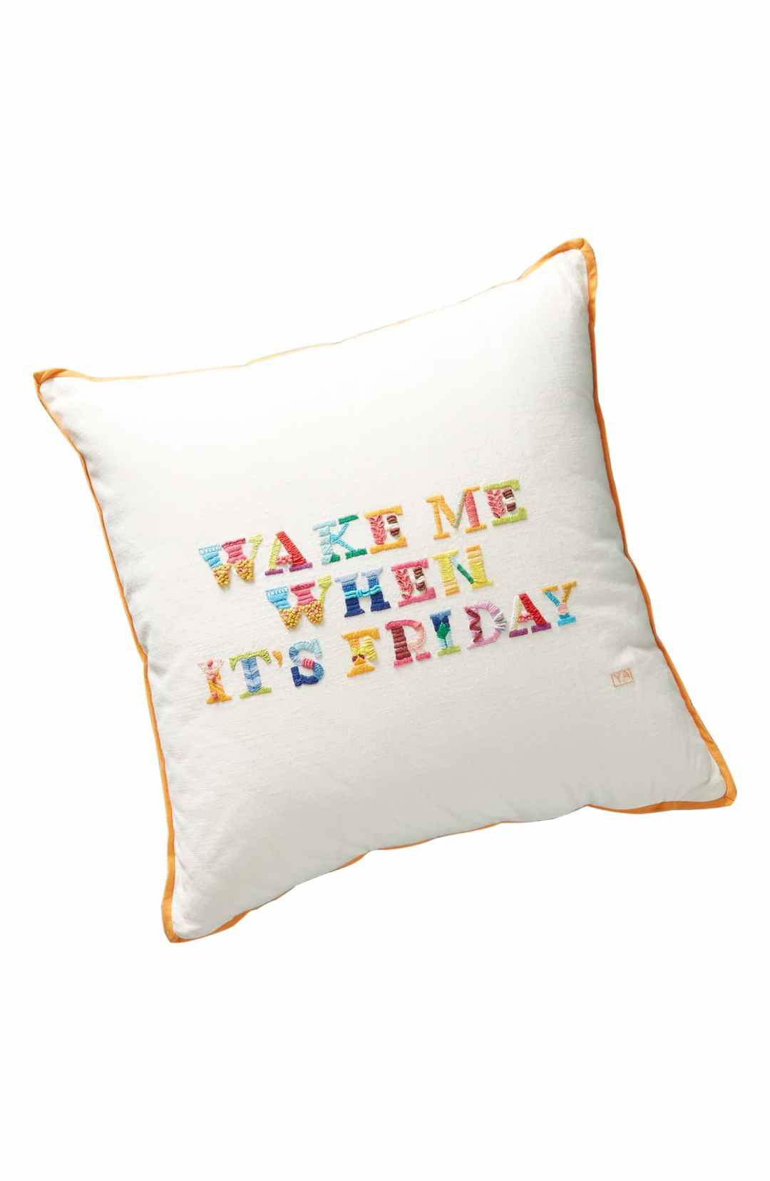 Yolanda Andres Friday Embroidered Pillow