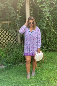 Poupette St Barth Ola Floral Long-Sleeve Tunic Dress