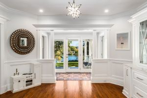 Foyer with wainscoting