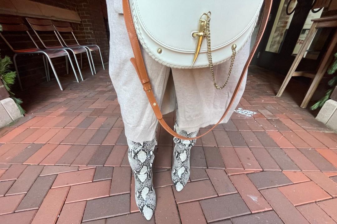 A New Day Women's Birgitte Animal Print Heeled Tall Fashion Boots