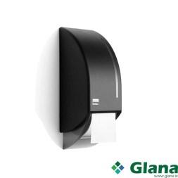 SATINO Black System Toilet Paper Dispenser