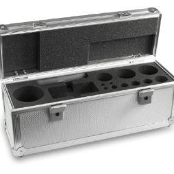 313-090-600 aluminium case up to 10kg for knobbed class E1 – M3 Aluminium-Koffer für Standard-Gewichtssätze