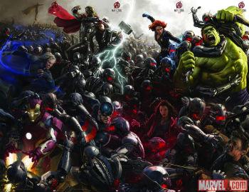 Avengers Ultron fight