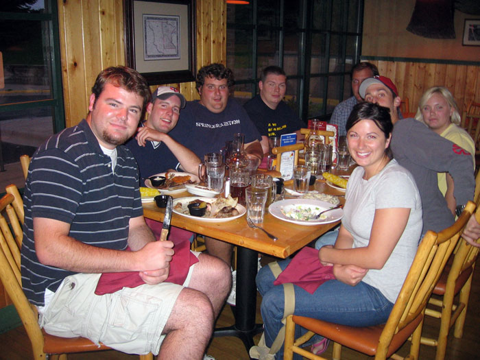 2006 - 24th birthday - The gang went out to dinner at Timberlodge and then went dancing at the country night club in Cottage Grove.