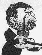 Musizierender Dramatiker Frank Wedekind