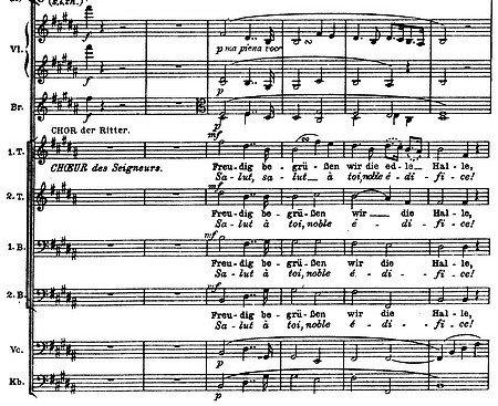 Richard Wagner: Partitur-Auszug des Tannhäusers (Sängerkrieg auf der Wartburg)