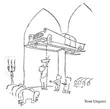 Karikaturist Tomi Ungerer: Anbetung des Autos (Tintenfass Nr. 31 - Diogenes Verlag)