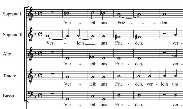 Musik-Beispiel - Heinrich Schütz - Verleih uns Frieden gnädiglich - Motette - Glarean Magazin