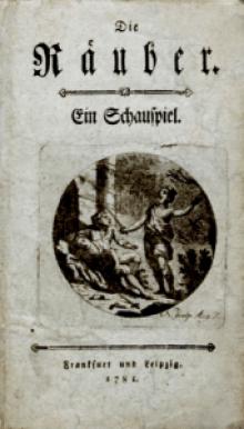 """Titelblatt von Schillers """"Räuber"""" der Erstausgabe 1781"""