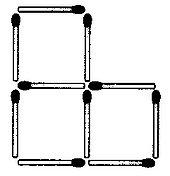 Streichholzrätsel Denksport-Aufgabe mit Lösung Matchstick Puzzle (Nummer 16) Lösung