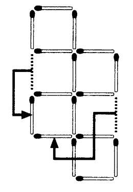 Streichholzrätsel Denksport-Aufgabe mit Lösung Matchstick Puzzle (Nummer 18) Lösung