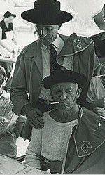 Die Genet-Freunde Picasso und Cocteau (1955 bei einer Corrida)