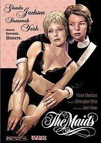"""Plakat der """"Zofen""""-Verfilmung mit Glenda jackson und Susanna York"""