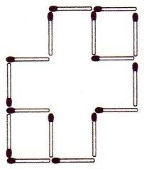 Streichholzrätsel Denksport-Aufgabe mit Lösung Matchstick Puzzle (Nummer 10) Lösung