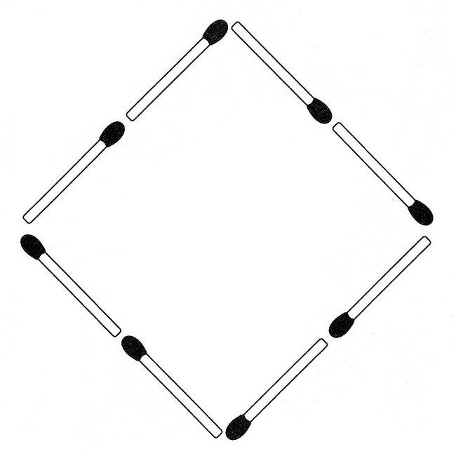Streichholzrätsel Denksport-Aufgabe mit Lösung Matchstick Puzzle (Nummer 13)