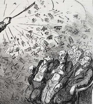 Honore Daumier - Nach einer Stunde Wagner auf allgemeinen Wunsch - Musiker-Anekdoten - Glarean Magazin