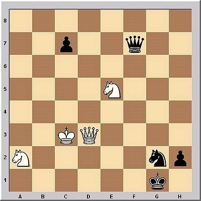 Schach-Studie von Peter Krug (Urdruck)
