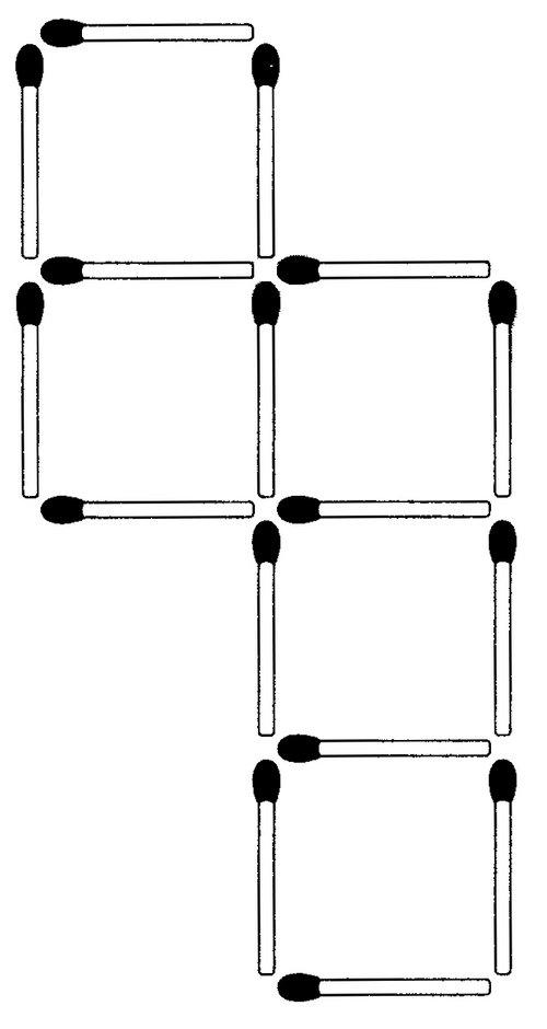 Streichholzrätsel Denksport-Aufgabe mit Lösung Matchstick Puzzle (Nummer 18)